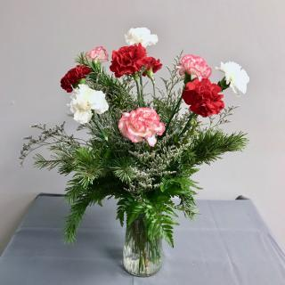 Vased Carnations