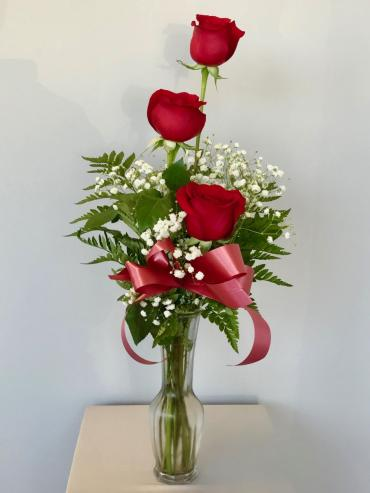 Triple Rose Budvase