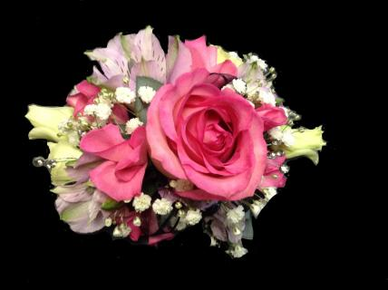 Pretty in Pink Wrist Corsage